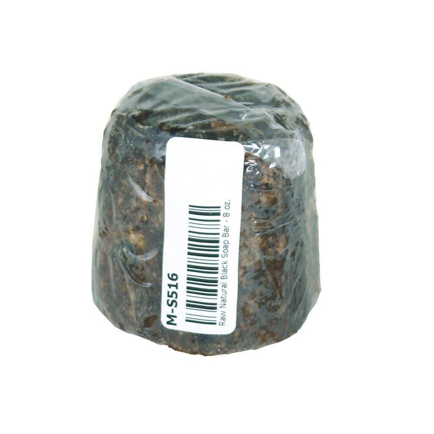 Raw Natural Black Soap Bar - 8 Oz. African