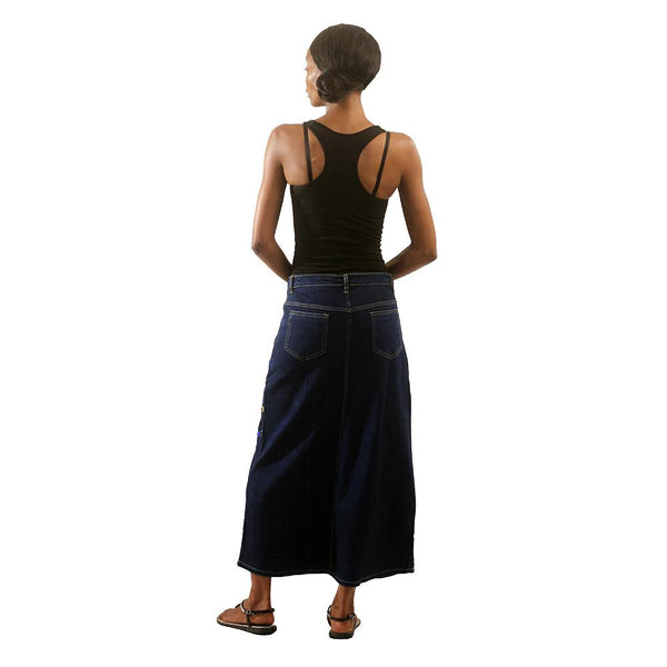 Blue Denim Long Skirt Womens Skirts