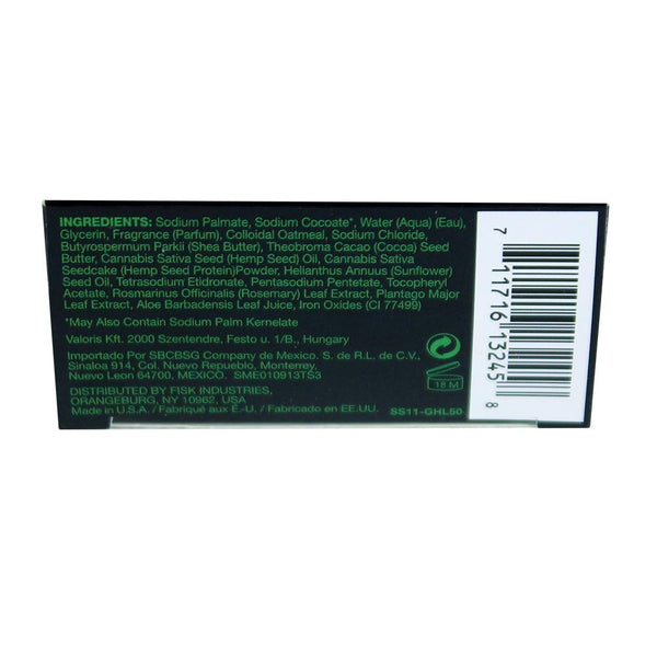 Green Hemp Leaf Black Soap - 5 Oz. African