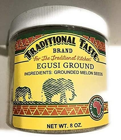 Traditional Taste Ground Egusi (8 Oz Jar)