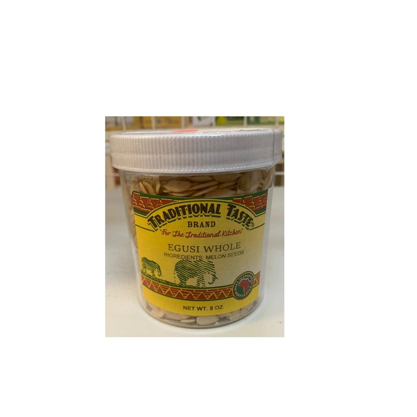 Traditional Taste Whole Egusi (8 Oz Jar)