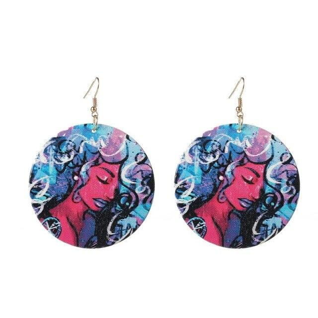 Women Personality Round Dangle Earrings 6