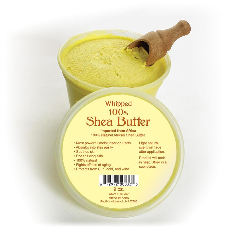 Whipped Shea Butter - 9 Oz. Yellow African