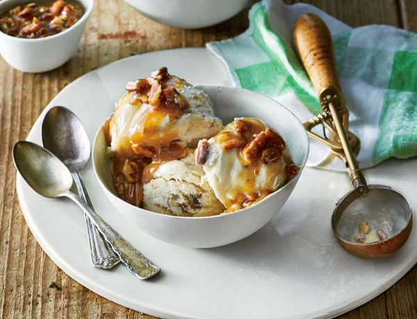 Putt's Butter Pecan Sundae in Southern Living