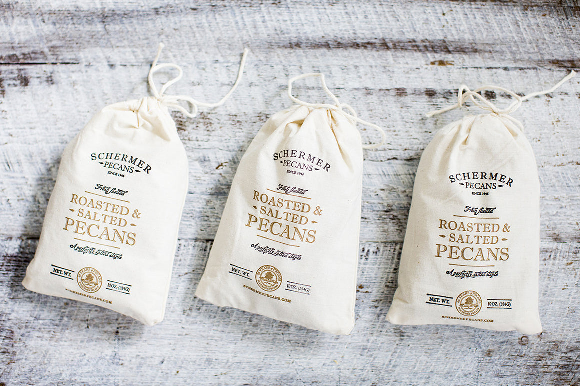 Roasted and Salted Pecans - Cloth Bags Case