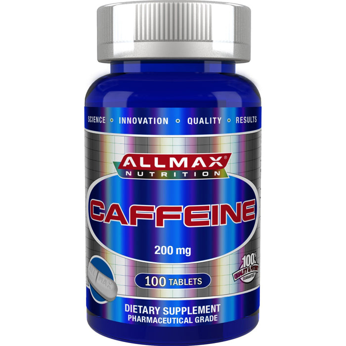 Allmax Caffeine 200Mg 100 Capsules. For Alertness and Energy