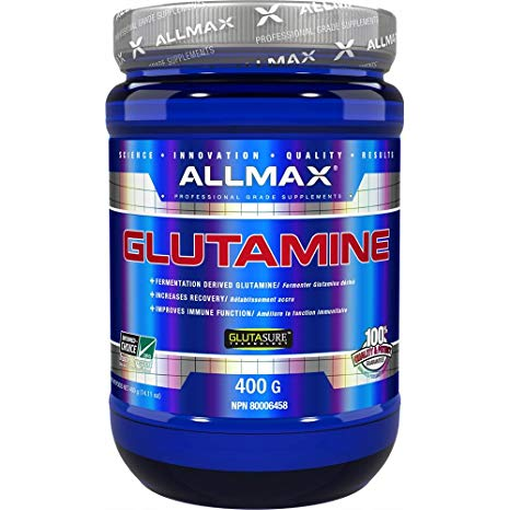 Allmax Glutamine 400 Grams. Reduces Muscle Soreness. Increases Recovery