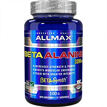 Allmax Beta-Alanine 100Grams. Increases Muscle Strength and Endurance