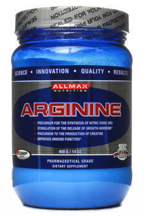 Allmax Arginine 400Grams. Increases Growth Hormone. Aids in Fat Loss