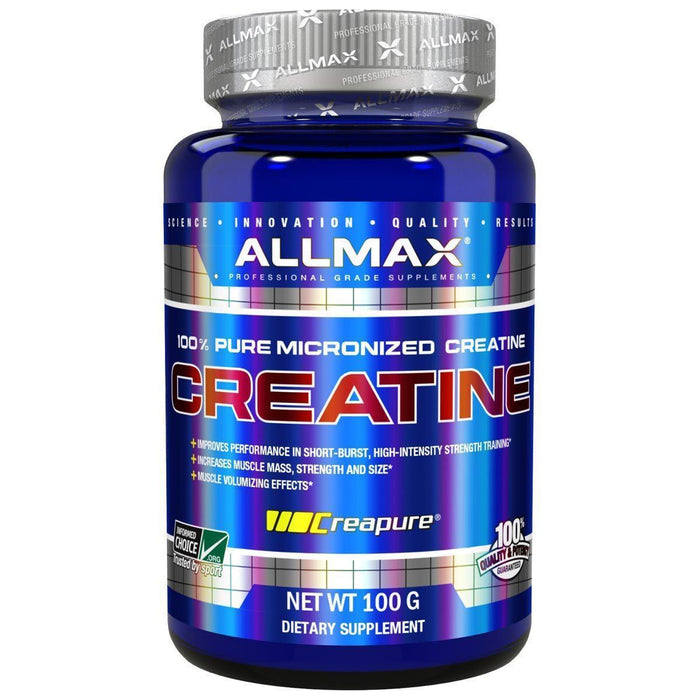 Allmax Creatine 100Grams. Increases Muscle Mass. Improves Performance