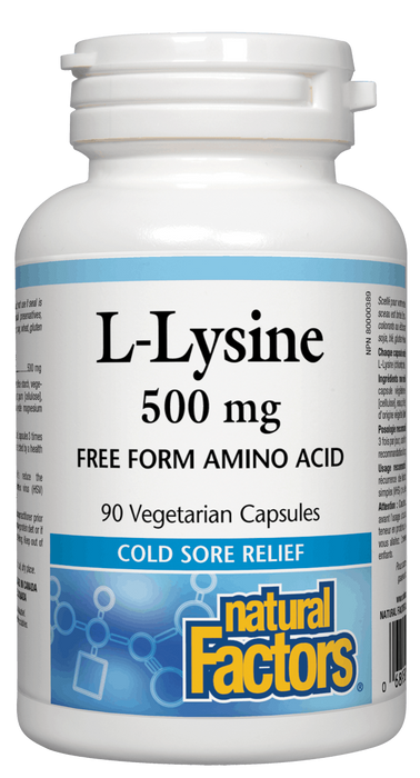 Natural Factors L-Lysine 500 mg | YourGoodHealth