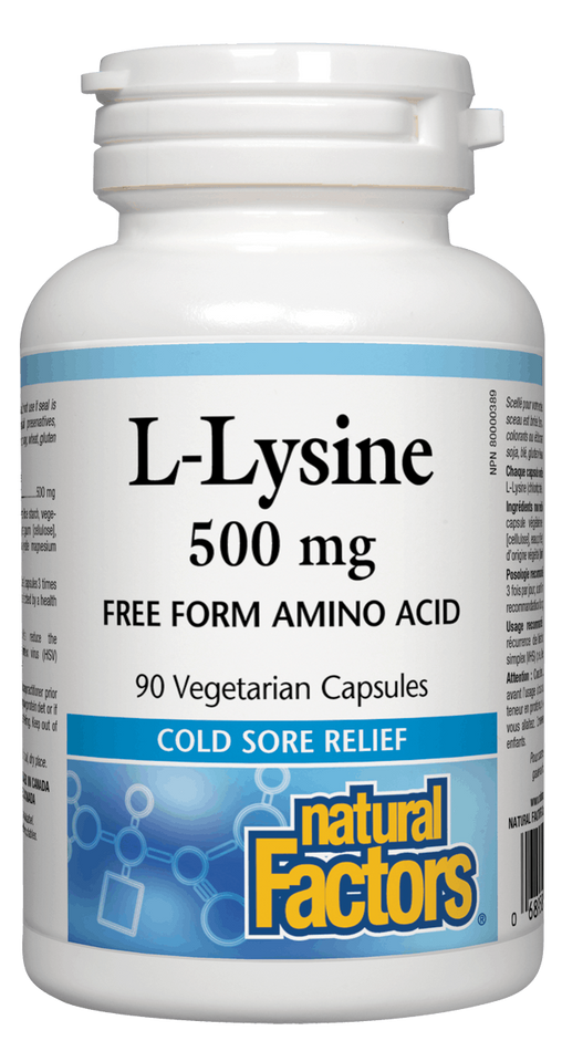 Natural Factors L-Lysine 500 mg | Your Good Health
