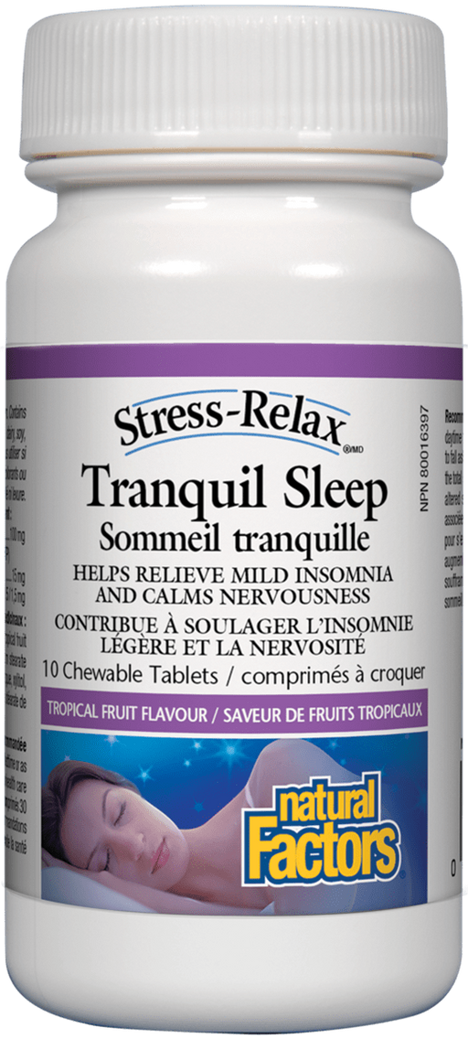 Natural Factors Tranquil Sleep 10 tablets | YourGoodHealth