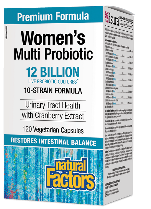 Natural Factors Women's Multi Probiotic with CranRich 120 caps