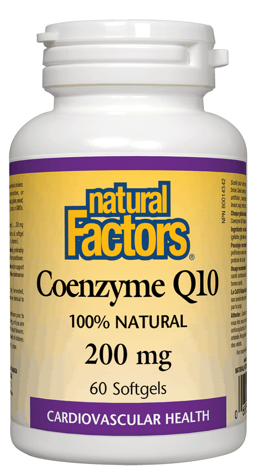 Natural Factors Coenzyme Q10 200 mg 60 capsules | YourGoodHealth