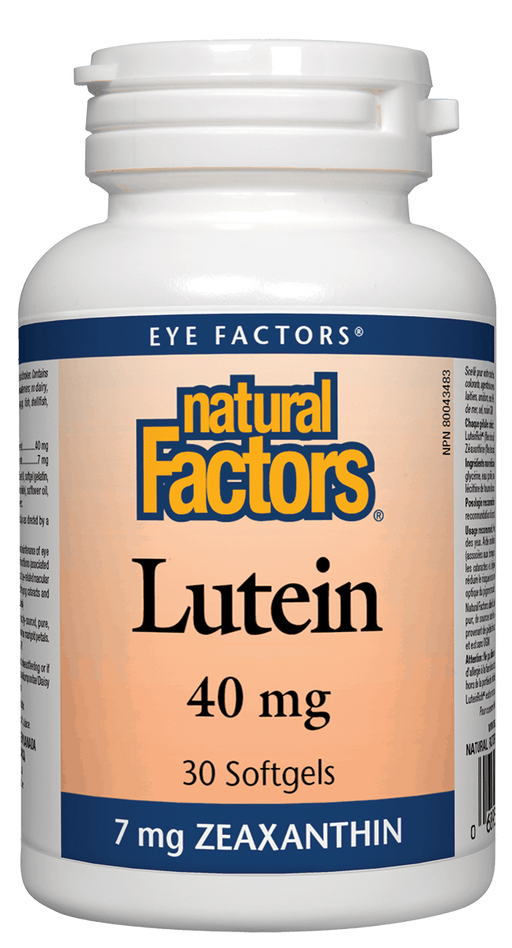 Natural Factors Lutein 40mg 30caps | YourGoodHealth