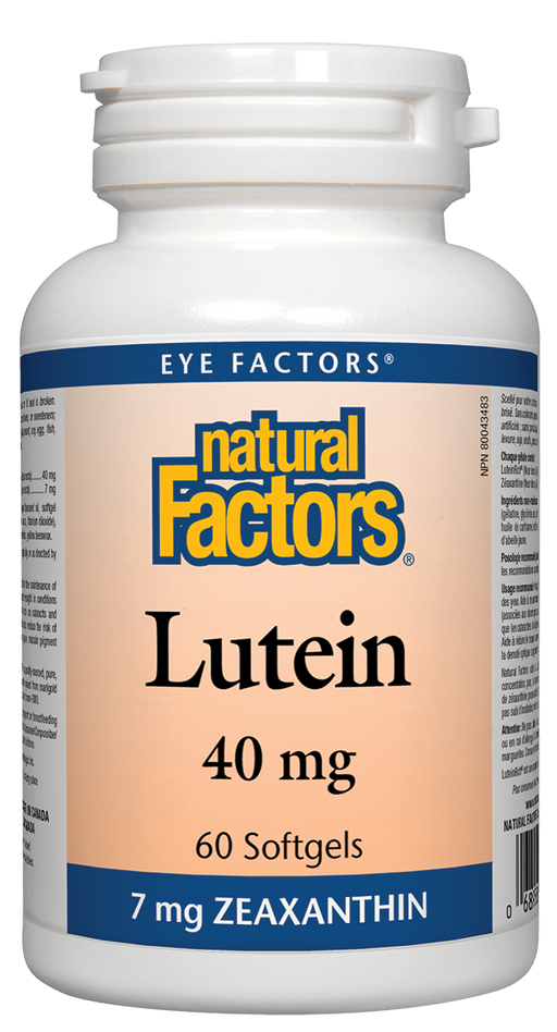 Natural Factors Lutein 40mg 60 caps | YourGoodHealth