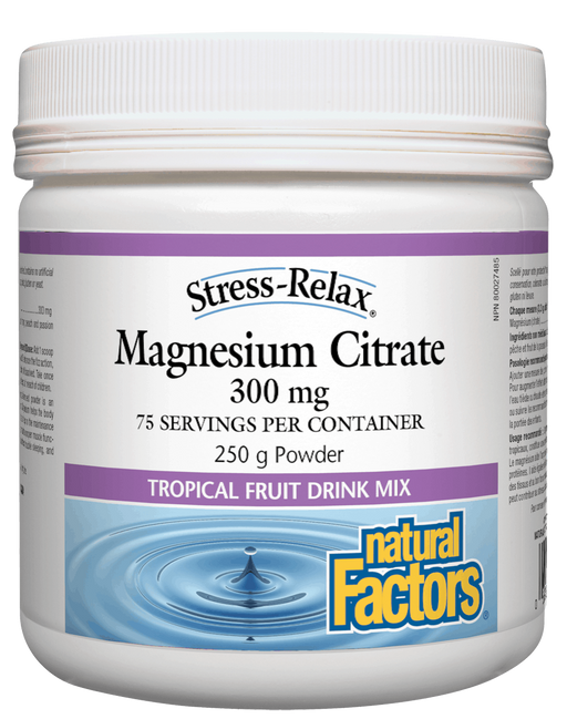 Natural Factors Magnesium Citrate Tropical | YourGoodHealth