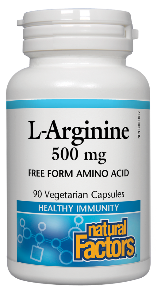 Natural Factors L-Arginine 500mg | YourGoodHealth