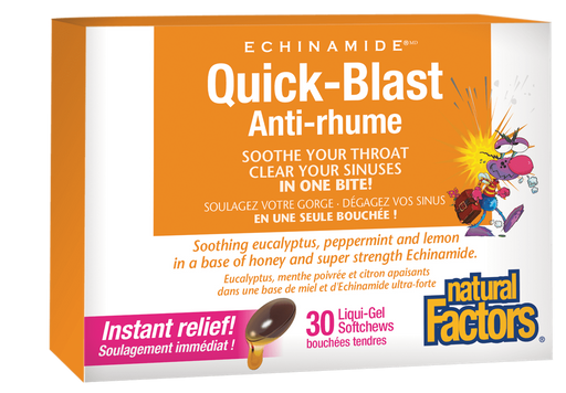 Natural Factors Quick Blast for Sore Throat & Sinus | YourGoodHealth