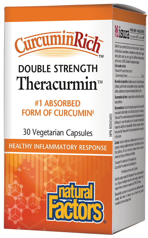 Natural Factors Theracumin Tumeric 600mg 30 capsules | YourGoodHealth