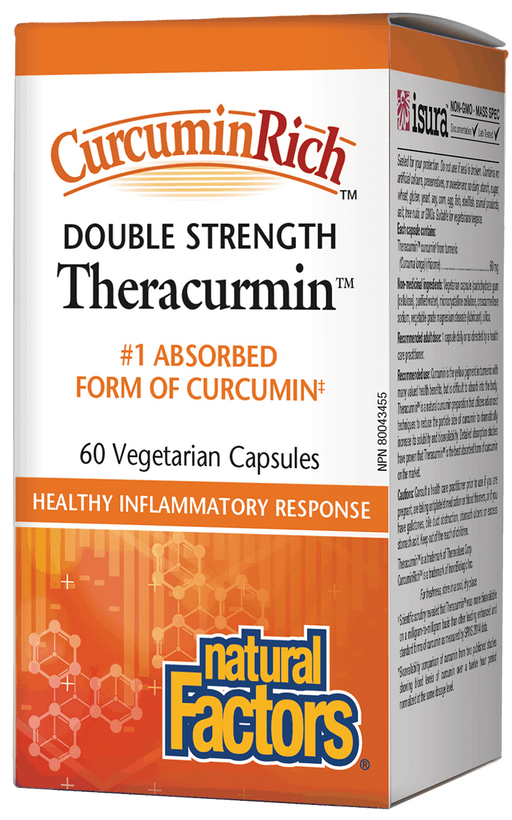 Natural Factors Theracumin Tumeric 600mg 60 capsules | YourGoodHealth