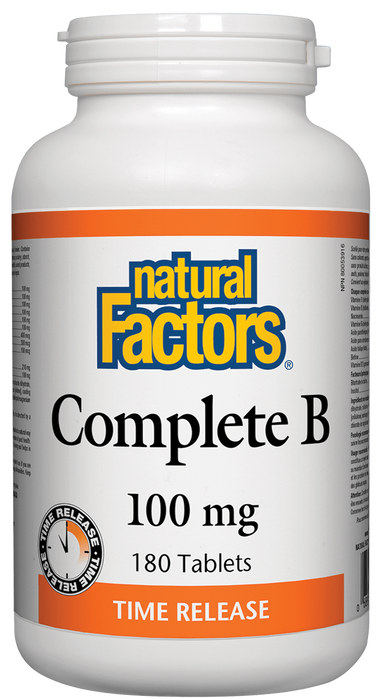 Natural Factors Complete B 100mg 180 tables | YourGoodHealth