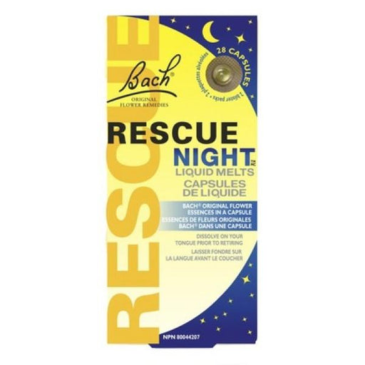 Bach Rescue Night Melts 28 Capsules