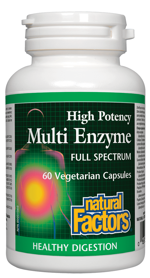 Natural Factors Multi Enzyme 60 caps | YourGoodHealth