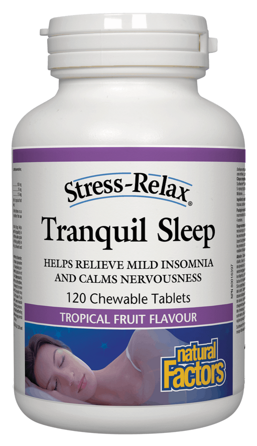 Natural Factors Chewable Tranquil Sleep 120 cheables | YourGoodHealth
