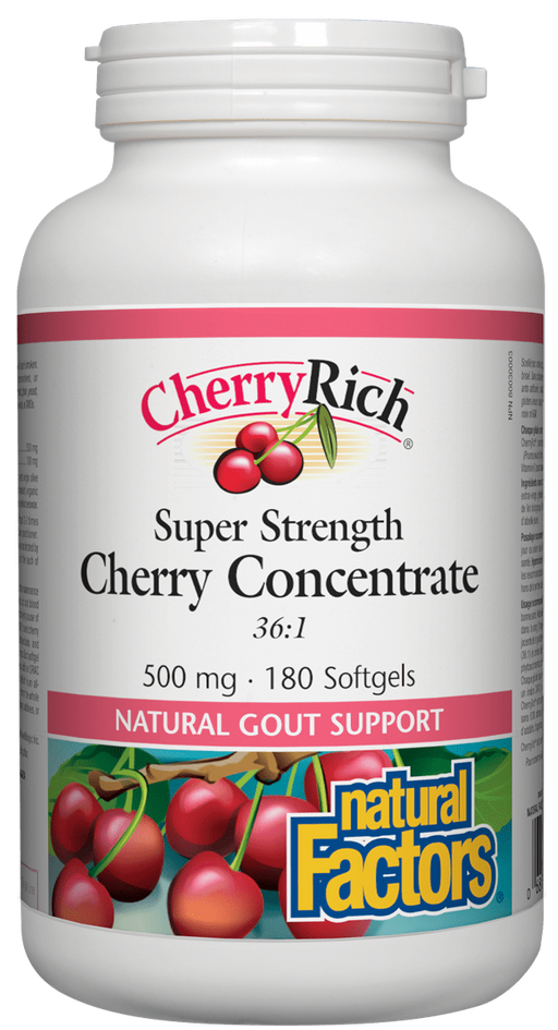 Natural Factors Cherry Concentrate 180 capsules | YourGoodHealth