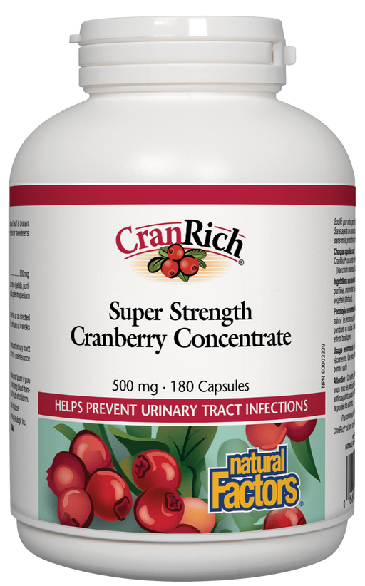 Natural Factors CranRich Cranberry Concentrate 180 capsules | YourGoodHealth