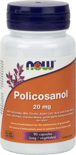 Now Policosanol, 10 mg, 90 Veg Capsules