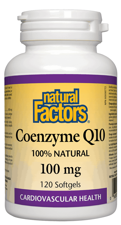 Natural Factors Coenzyme Q10 100 mg 120 capsules | YourGoodHealth