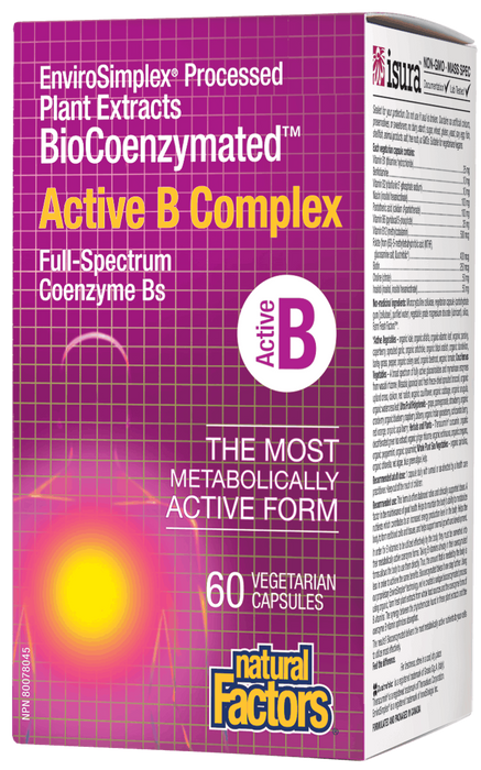 Natural Factors Active B Complex 60's | YourGoodHealth