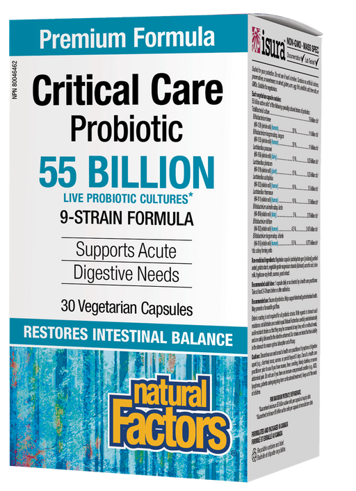 Natural Factors Critical Care Probiotic 55 Billion Active Cells