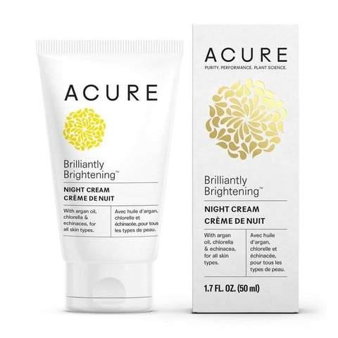 Acure Brilliantly Brightening Night Cream | Your Good Health
