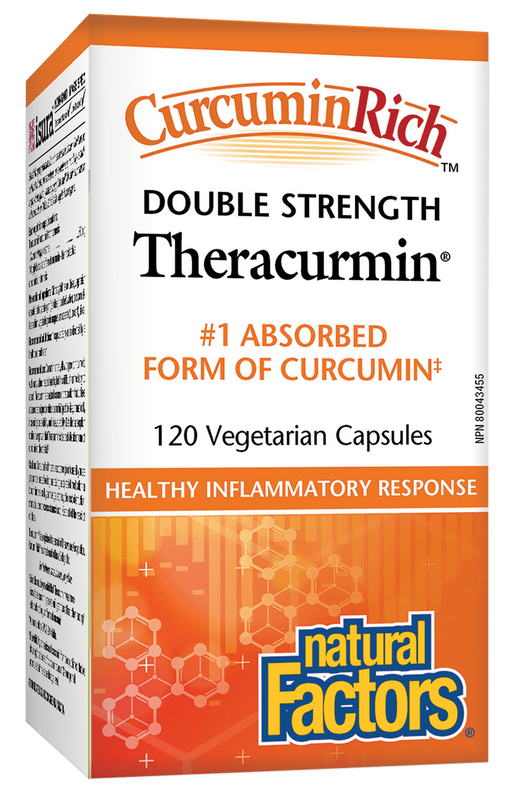 Natural Factors Theracumin Tumeric 600mg 120 capsules | YourGoodHealth