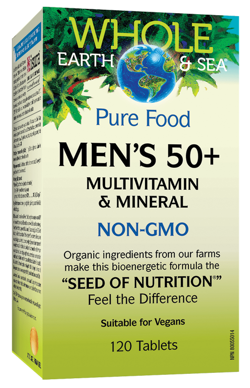 Whole Earth & Sea Mens 50+ Multi Vtiamin 120 tablets | YourGoodHealth