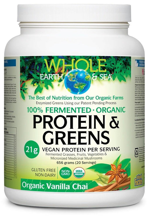 Whole Earth & Sea Protein & Greens Vanilla Chai | YourGoodHealth