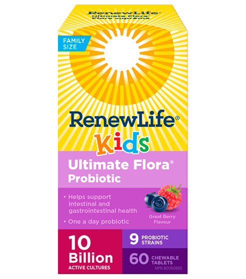 Renew Life Ultimate Flora Kids Probiotic 60caps | YourGoodHealth