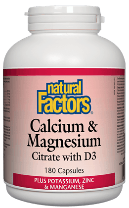 Natural Factors Calcium & Magnesium 180caps | YourGoodHealth