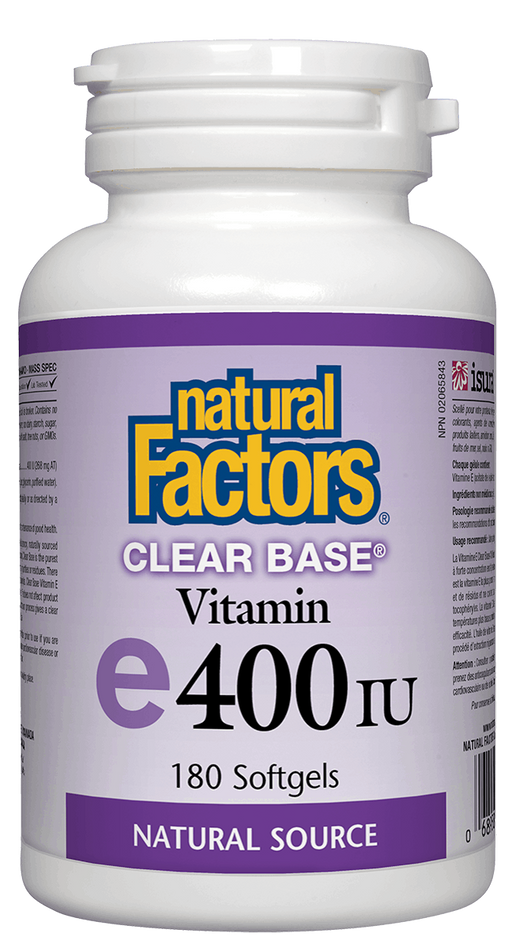Natural Factors Vitamin E 400IU Clear Base | YourGoodHealth