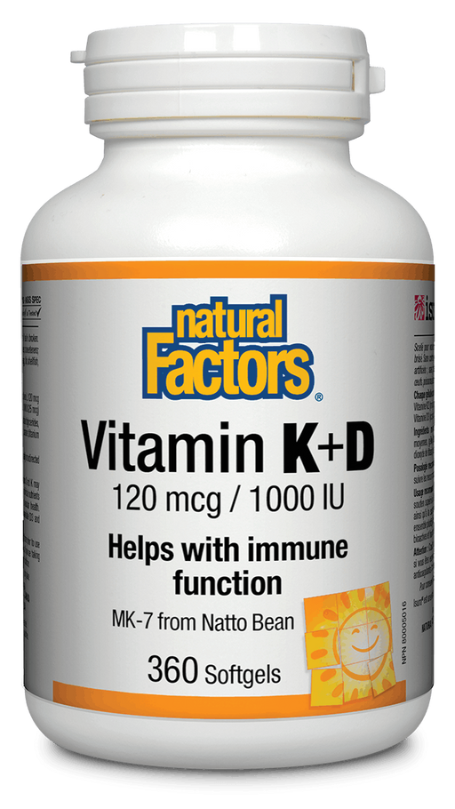 Natural Factors Vitamin K & D 360caps | YourGoodHealth