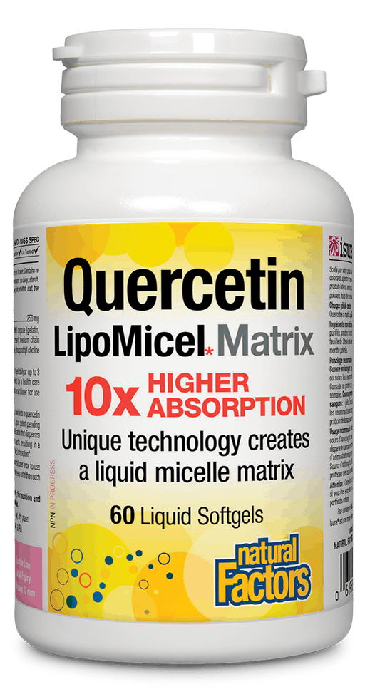 Natural Factors Quercitin Lipomicel 60 capsules | YourGoodHealth