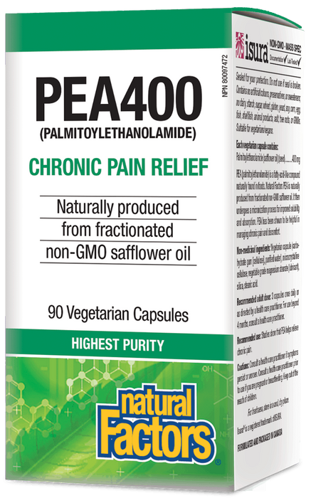 Pain Relief Natural Factors PEA400 | YourGoodHealth