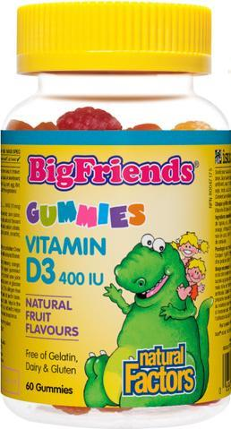 Natural Factors Big Friends Vit D Gummy | YourGoodHealth