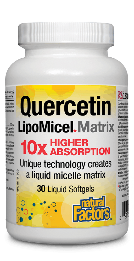 Natural Factors Quercitin Lipomicel 30 capsules | YourGoodHealth