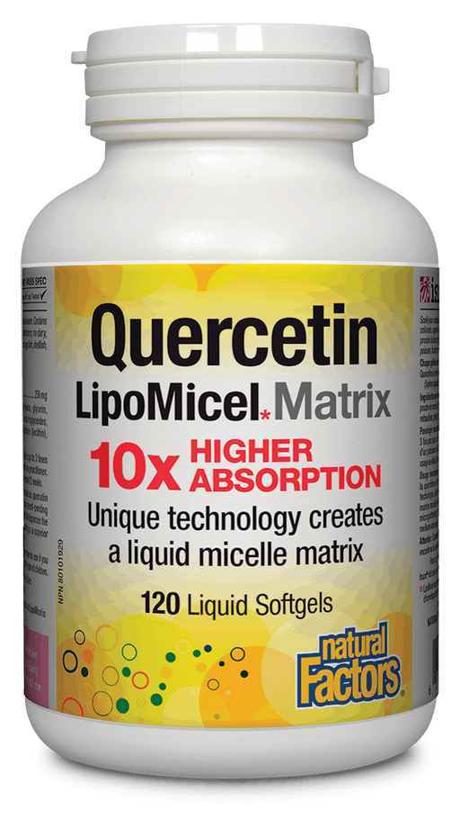 Natural Factors Quercitin Lipomicel 120 capsules | YourGoodHealth