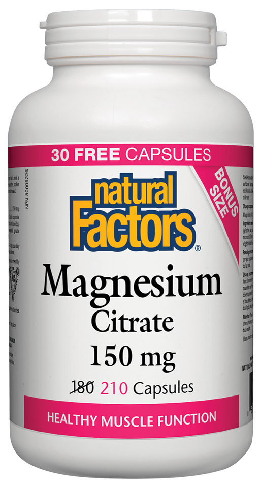 Natural Factors Magnesium Citrate 210 | YourGoodHealth